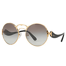 Buy Prada PR 55TS Curved Arms Round Sunglasses Online at johnlewis.com