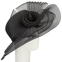 Buy John Lewis Shelby Large Crin Occasion Hat, Black Online at johnlewis.com