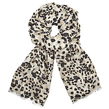 Buy John Lewis Animal Texture Scarf, Black/Cream Mix Online at johnlewis.com