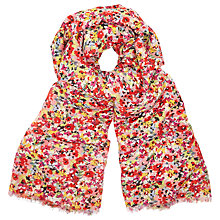 Buy John Lewis Ditsy Print Scarf, Red/Black Mix Online at johnlewis.com