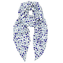 Buy John Lewis Shadow Spot Print Skinny Scarf, Blue Mix Online at johnlewis.com