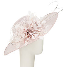 Buy John Lewis Leanne Wide Veil Flower Disc Occasion Hat, Pearl Online at johnlewis.com