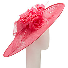 Buy John Lewis Patsy Oval Disc Quills Occasion Hat, Lipstick Online at johnlewis.com