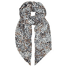 Buy John Lewis Ditsy Animal Skinny Scarf, Grey/Soft Brown Online at johnlewis.com