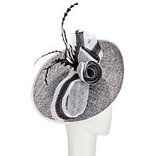 Buy John Lewis Tia Embroidery Disc Flower Occasion Hat, Black/White Online at johnlewis.com