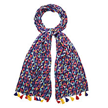 Buy White Stuff Kaleidoscope Butterfly Scarf, Japanese Blue Online at johnlewis.com