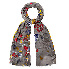 Buy White Stuff Social Butterfly Scarf, Grey Online at johnlewis.com