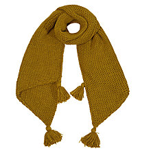 Buy White Stuff Faye Tassel Scarf, Chartreuse Scarf Online at johnlewis.com