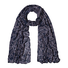 Buy White Stuff Shimmering Butterfly Scarf, Blue Online at johnlewis.com