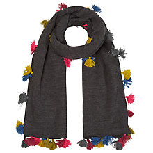 Buy White Stuff Tiny Tassel Scarf, Grey Online at johnlewis.com