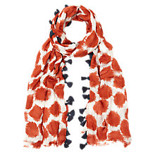 Buy White Stuff Smudgey Spot Scarf, Carmine Orange Online at johnlewis.com