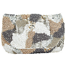 Buy John Lewis Jazzy Sequin Clutch Bag, Silver Online at johnlewis.com