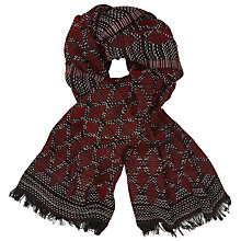 Buy Becksondergaard Lemoine Printed Scarf, Brick Red Online at johnlewis.com