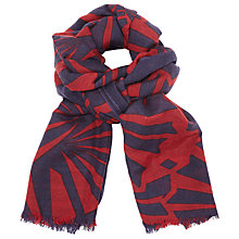 Buy Becksondergaard Fresnel Printed Scarf, Brick Red Online at johnlewis.com