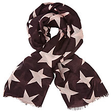 Buy Becksondergaard Large Nova Star Scarf, Plum Online at johnlewis.com