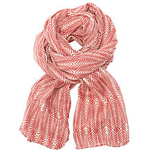 Buy Becksondergaard Nobel Fine Printed Scarf, Brick Red Online at johnlewis.com