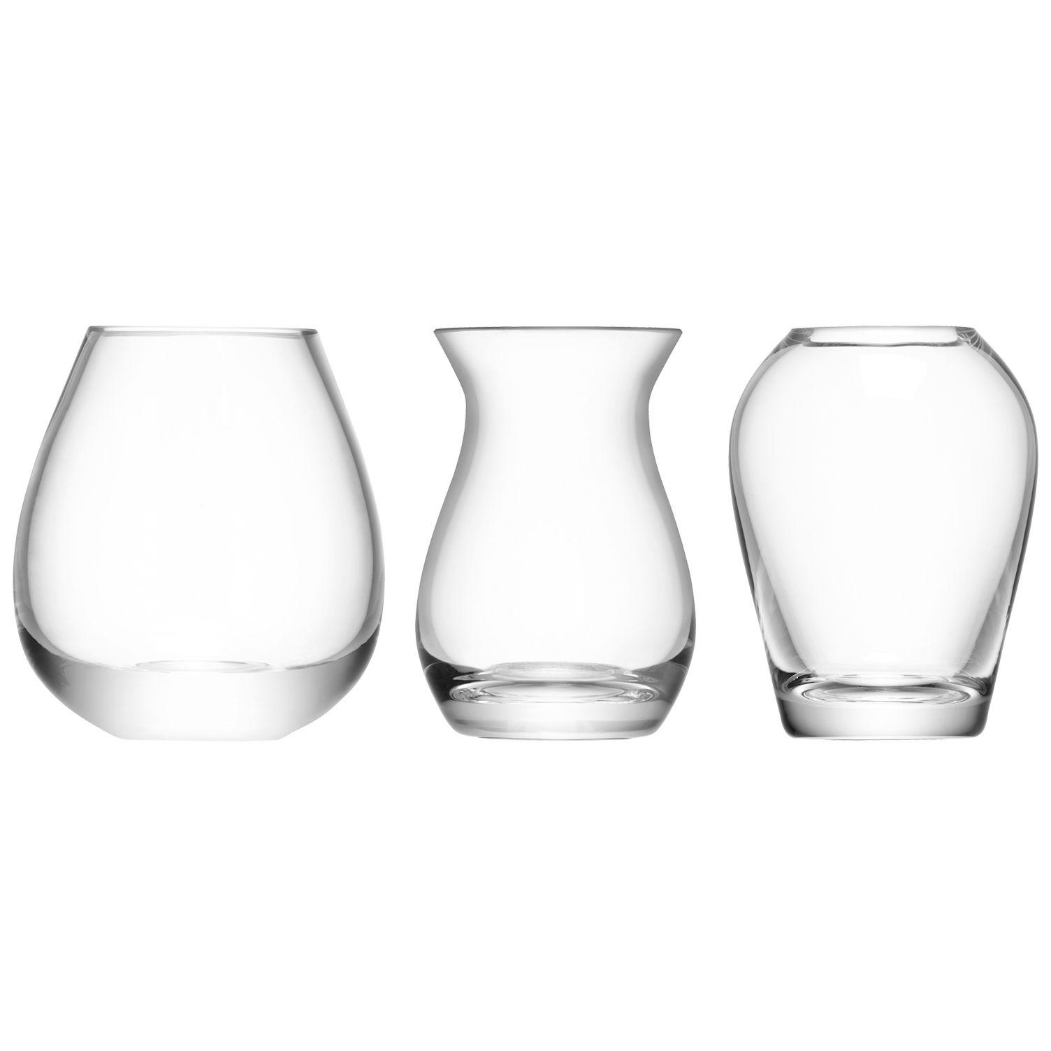 LSA International LSA International Flower Mini Vase Gift Set, Set of 3
