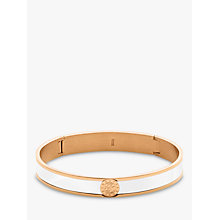 Buy Dyrberg/Kern Hinge Enamel Bangle, Rose Gold/White Online at johnlewis.com