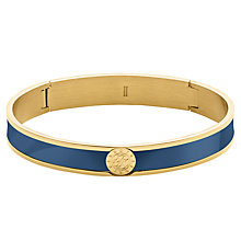 Buy Dyrberg/Kern Hinge Enamel Bangle, Gold/Blue Online at johnlewis.com
