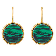 Buy Dyrberg/Kern French Hook Drop Earrings, Gold/Green Online at johnlewis.com