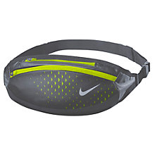 Buy Nike Running Waistpack, Dark Grey/Volt Online at johnlewis.com