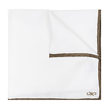 Buy Jaeger Silk Border Pocket Square, Ivory Online at johnlewis.com