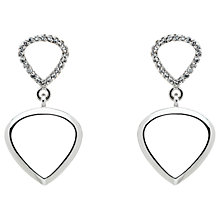 Buy Finesse Cubic Zirconia Double Teardrop Drop Earrings, Silver Online at johnlewis.com