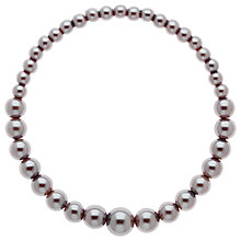 Buy Finesse Graduating Glass Pearl Stretch Bracelet, Grey Online at johnlewis.com