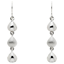 Buy Finesse Brushed and Polished Teardrop Drop Earrings, Silver Online at johnlewis.com