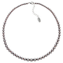 Buy Finesse Graduating Glass Pearl Collar Necklace, Grey Online at johnlewis.com