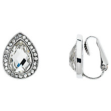 Buy Monet Glass Crystal Teardrop Clip On Stud Earrings Online at johnlewis.com