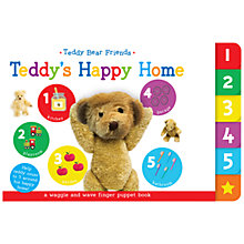 Buy Teddy's Happy Home Finger Puppet Children's Board Book Online at johnlewis.com