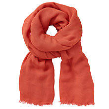 Buy John Lewis Double Face Modal Wrap, Orange/Pink Online at johnlewis.com