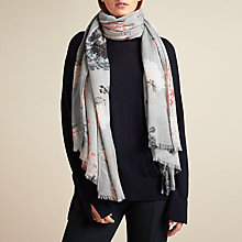 Buy Modern Rarity Trade Wings Bloom Floral Scarf, Grey/Multi Online at johnlewis.com