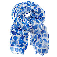 Buy John Lewis Tribal Dot Scarf, Blue Mix Online at johnlewis.com