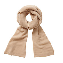 Buy Pure Collection Katie Gassato Cashmere Textured Scarf, Camel Online at johnlewis.com