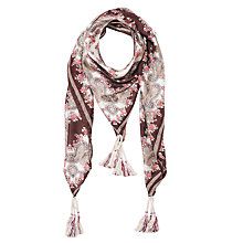 Buy Gerard Darel Arabella Scarf, Dark Red Online at johnlewis.com
