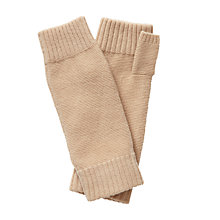 Buy Pure Collection Frankie Cashmere Textured Mittens, Camel Online at johnlewis.com