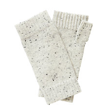 Buy Pure Collection Georgia Cashmere Textured Mittens, Heather Grey Fleck Online at johnlewis.com