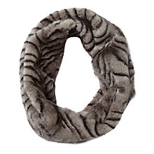 Buy Pure Collection Lisa Faux Fur Snood, Animal Grey Online at johnlewis.com