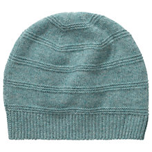 Buy Pure Collection Jessica Cashmere Textured Hat, Blue Frost Online at johnlewis.com