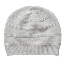 Buy Pure Collection Melissa Cashmere Textured Hat, Iced Grey Online at johnlewis.com
