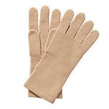 Buy Pure Collection Gloria Cashmere Gloves, Camel Online at johnlewis.com