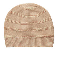 Buy Pure Collection Kelly Texured Hat, Camel Online at johnlewis.com