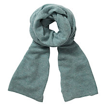 Buy Pure Collection Victoria Gassato Cashmere Textured Scarf, Blue Frost Online at johnlewis.com