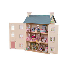 Buy Le Toy Van Cherry Tree Hall Doll's House Bundle Online at johnlewis.com