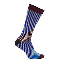 Buy Ted Baker Cooper Stripe Socks, One Size, Blue Online at johnlewis.com