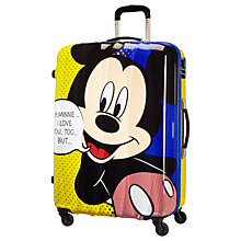 Buy American Tourister Disney Mickey Pop 75cm 4-Wheel Suitcase, Red Online at johnlewis.com