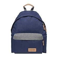 Buy Eastpak Padded Pak'r Backpack, Block Out Blue Online at johnlewis.com
