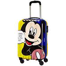 Buy American Tourister Disney Mickey Pop 55cm 4-Wheel Cabin Case, Red Online at johnlewis.com